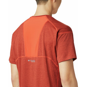 Columbia Irico Camisa Punto Manga Corta Hombre, rojo